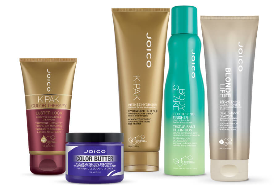 Blonde Life Conditioner, Body Shake, K-PAK Intense Hydrator, Luster Lock Treatment, and Color Butter Purple products