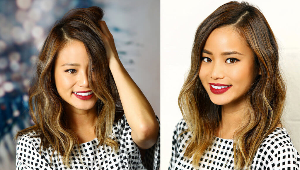 Jamie Chung brunette hair color