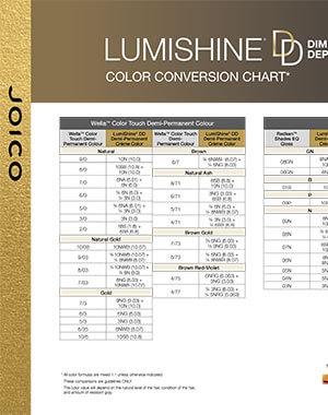 lumishine dd creme conversion chart pdf cover