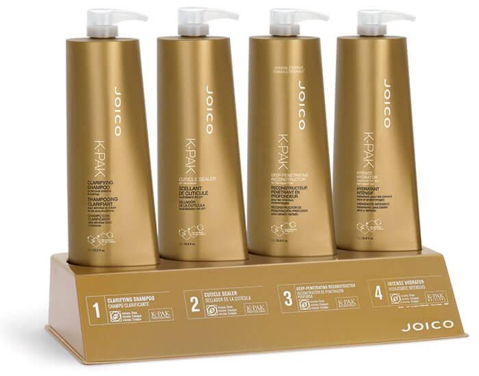 K-PAK professional hair repair bottles