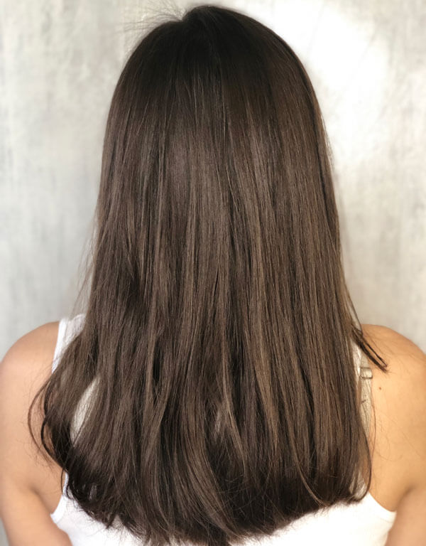 pick me up hair color technique before look