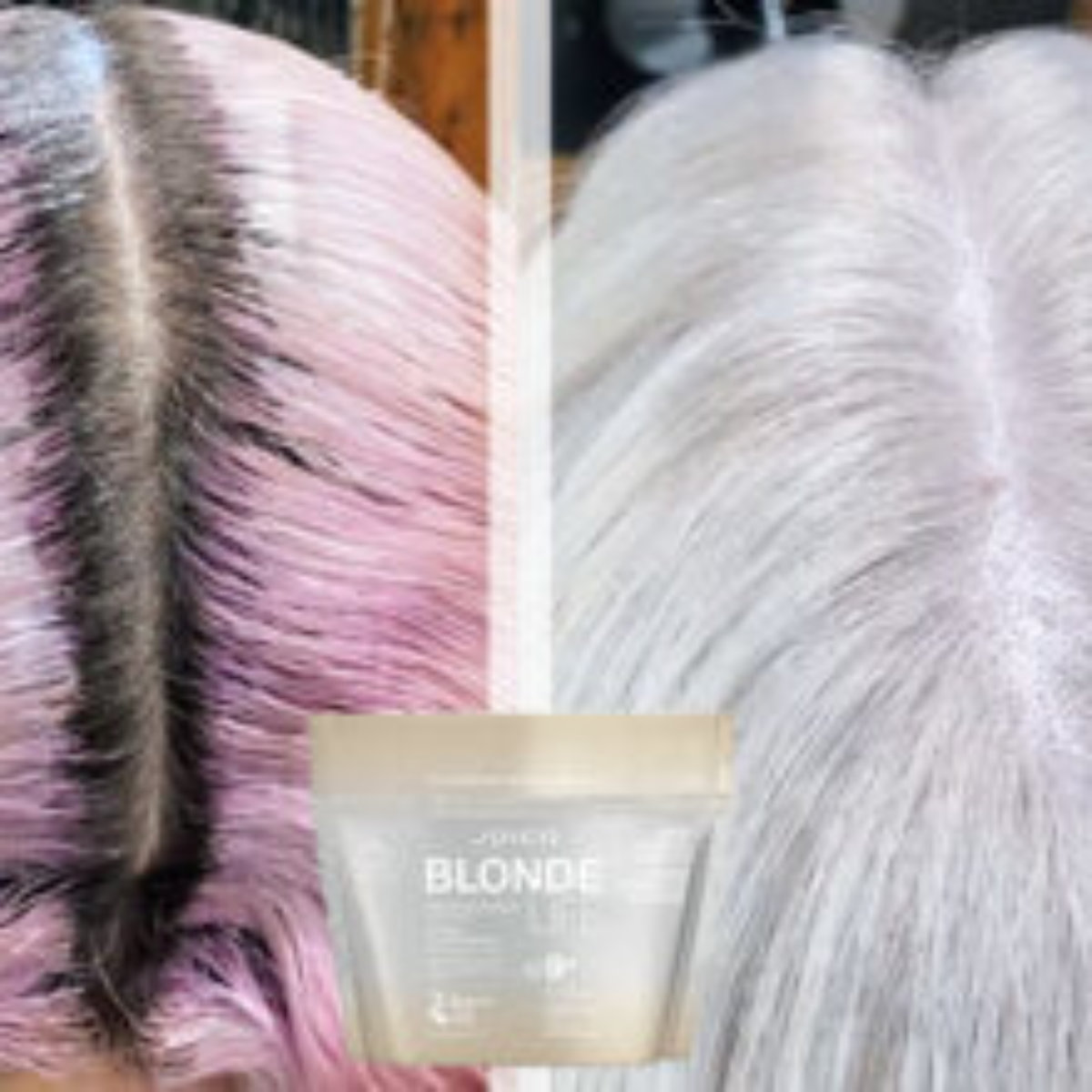 colored hair showing roots